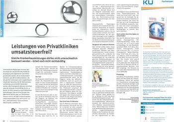 Leistungen von Privatkliniken umsatzsteuerfrei?